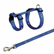 Harness with Leash for Guinea Pigs with Motif  21-35 cm