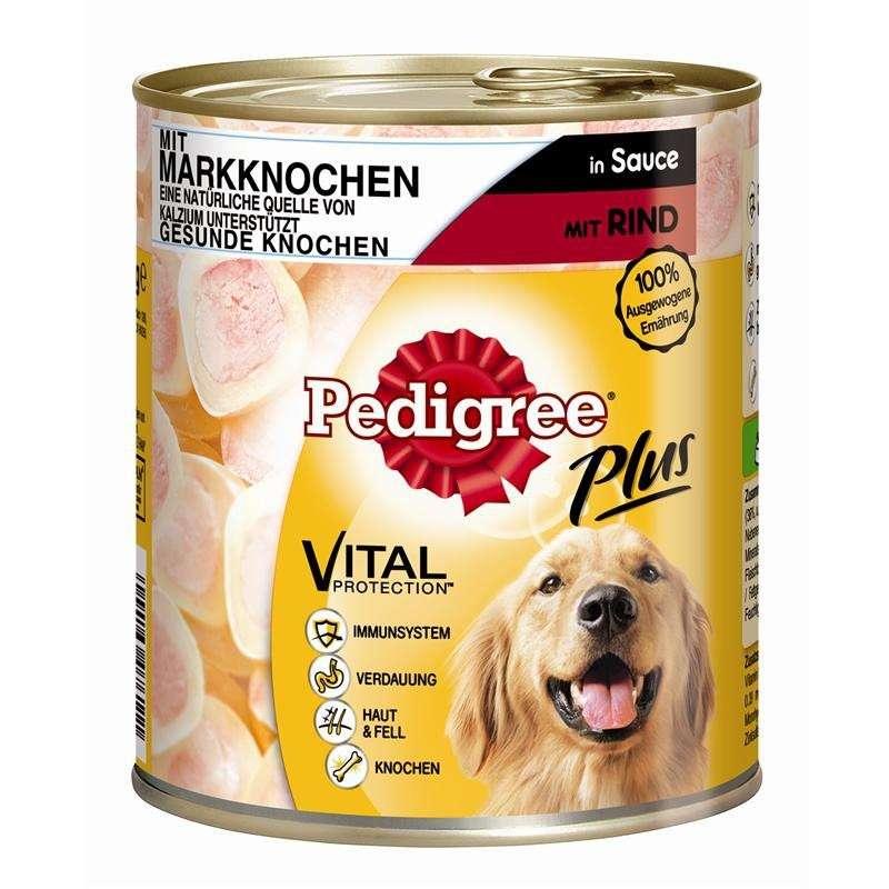 Pedigree Plus Mergbeen-Rund in Saus 400 g, 800 g