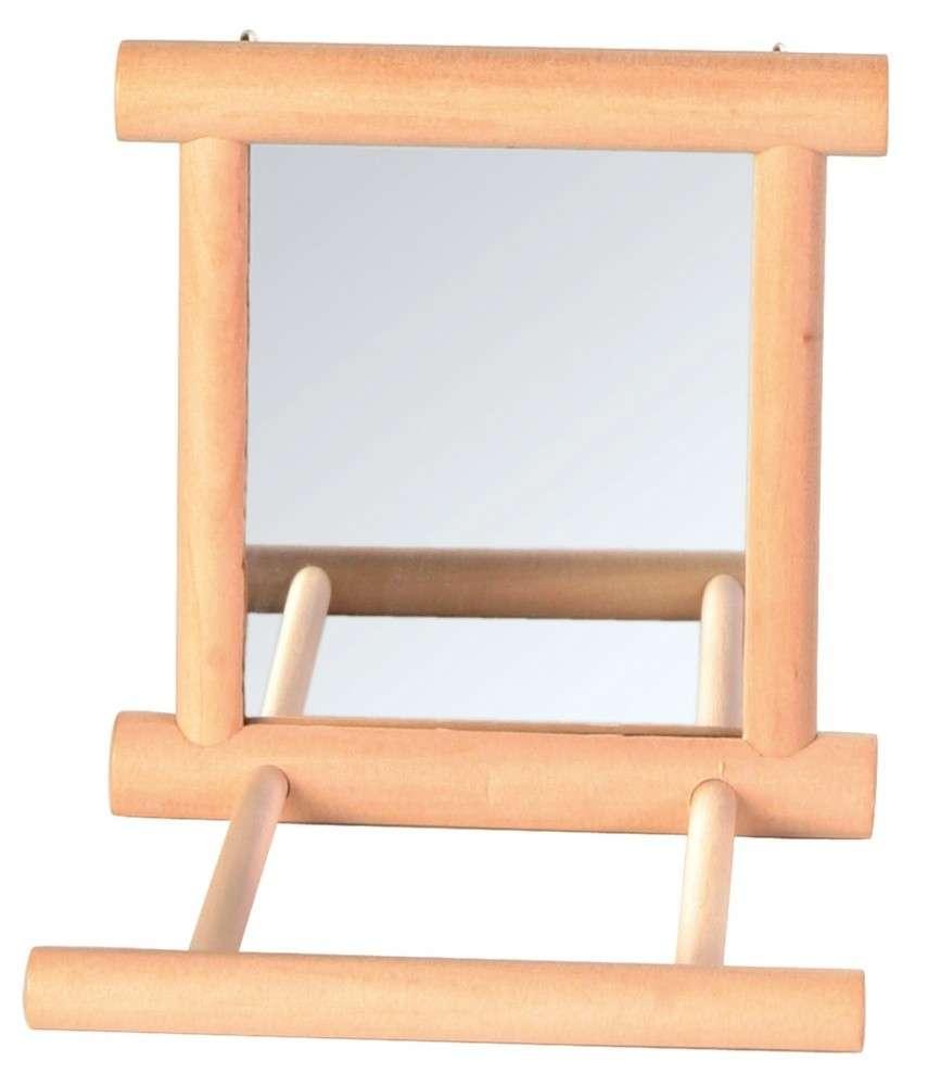 Trixie Spiegel met houten frame Beige 9x9 cm met korting aantrekkelijk en goedkoop kopen