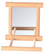 Trixie Mirror with Wooden Frame 9x9 cm