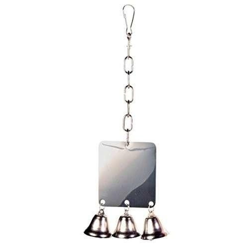 Trixie Metalen Spiegel voor parkieten en papegaaien Grijs 7x8 cm met korting aantrekkelijk en goedkoop kopen