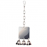 Trixie Metal Mirror with 3 bells 7x8 cm