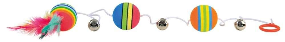 Trixie Pelotas arcoiris, elásticos 3.5x80 cm