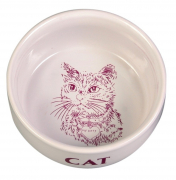 Bowl with Motive, ceramic White