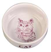 Trixie Skål med Motiv Katt Keramik 300 ml