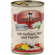 Landfleisch Dog Senior Poultry & Rice & Paprika with fresh vegetables Can 400 g