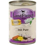 LandfleischDog Junior Turkey with fresh Vegetables Can 400 g