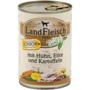 Landfleisch Dog Junior Chicken & Duck & Potatoes with fresh Vegetables Can 400 g