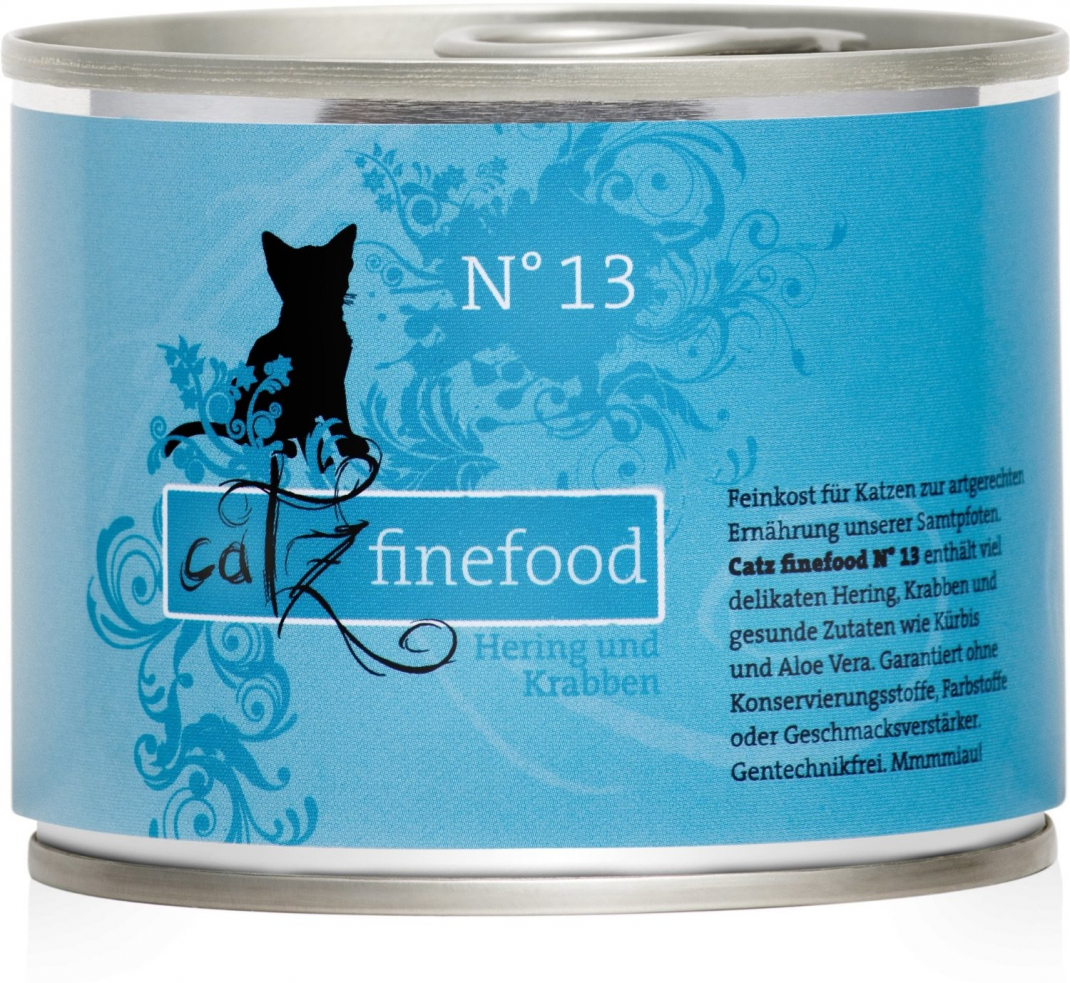 Catz Finefood No.13 Herring & Crabs 200 g, 400 g, 800 g, 85 g test