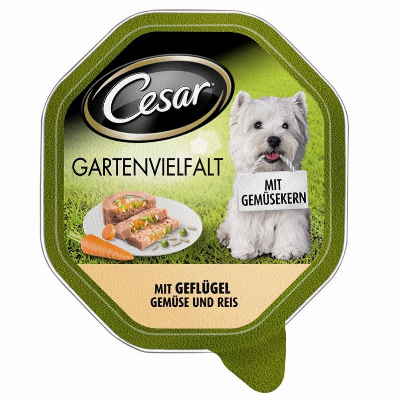 Shell Garden Variety with Poultry, Vegetables & Rice from Cesar 150 g buy online