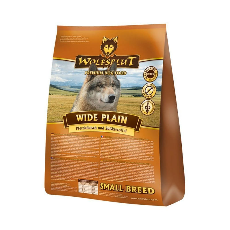 Wolfsblut Wide Plain Small Breed horse meat and sweet potatoes 7.50 kg, 500 g, 2 kg, 15 kg