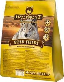 Gold Fields Small Breed Camel meat with sweet potatoes from Wolfsblut 2 kg, 15 kg buy online