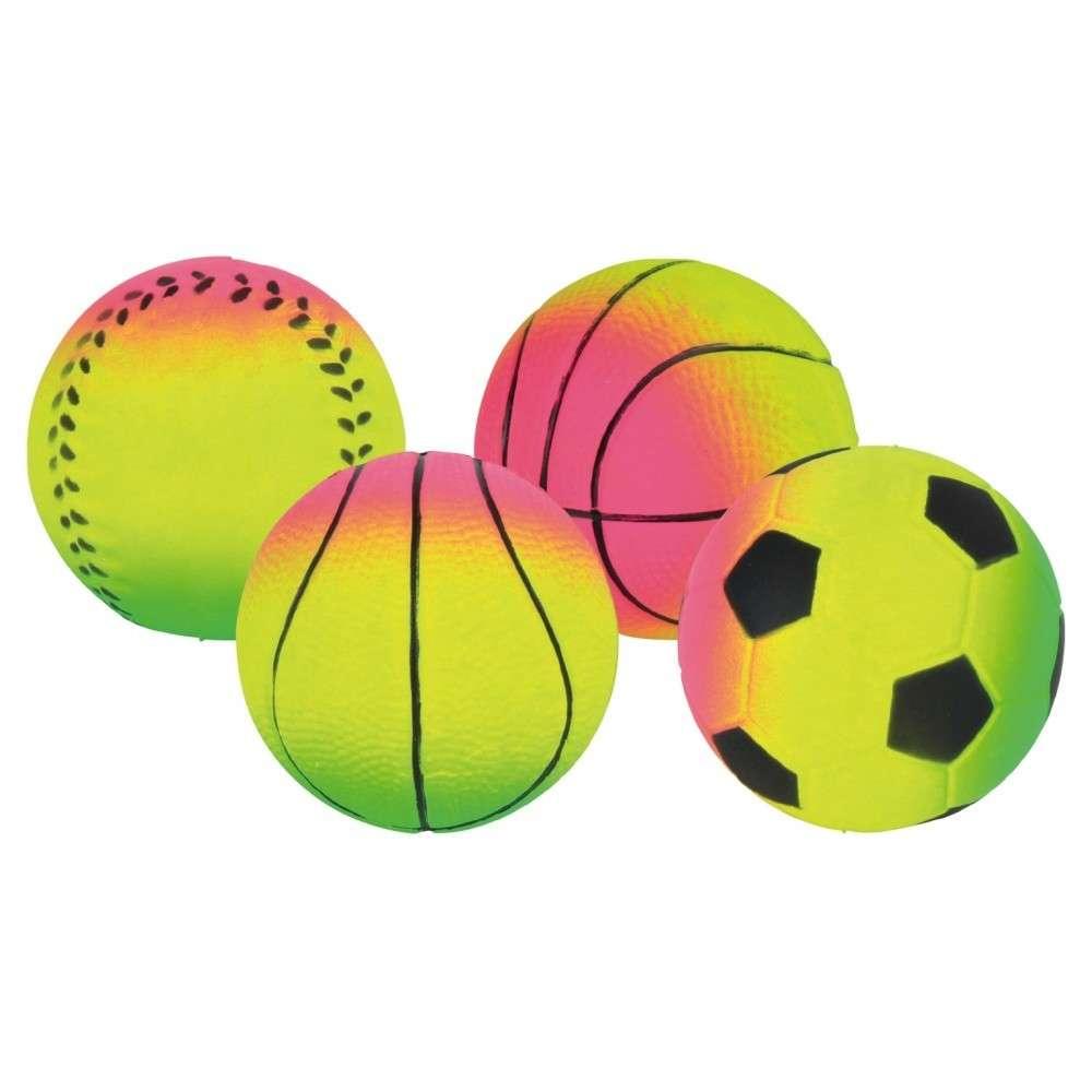 Trixie Neon Ballen, zacht rubber 24 Pieces   met korting aantrekkelijk en goedkoop kopen