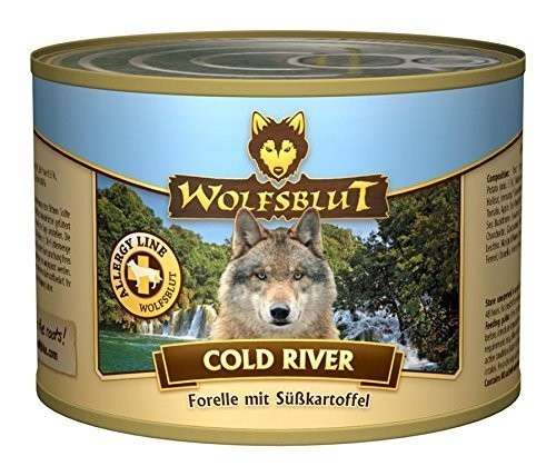 Wolfsblut Cold River Forel met zoete Aardappel 395 g, 200 g, 6x1.2 kg