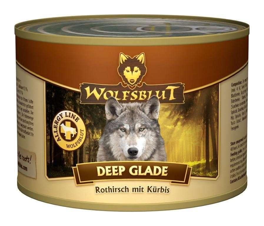 Wolfsblut Deep Glade Edelherten en Pompoen 395 g, 200 g, 6x1.2 kg