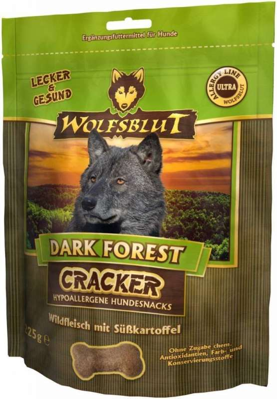 Wolfsblut Cracker met Hoog Vleesgehalte Dark Forest Wild 225 g, 6x225 g