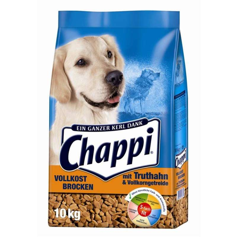 Chappi Wholegrain chunks with Turkey, Vegetables and Cereals 10 kg