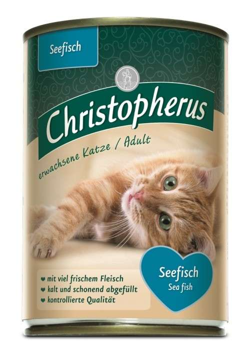 Christopherus Adult Cats - Sea fish Can 400 g 4005784174042 anmeldelser