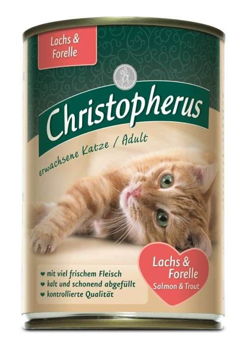 Christopherus Adult Cats - Salmon & Trout Can 400 g