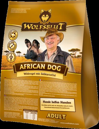 Wolfsblut African Dog Adult Wide Vogels & Zoete Aardappel 7.5 kg, 500 g, 2 kg, 15 kg