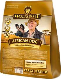 Wolfsblut African Dog Large Breed Wildvogel met zoete Aardappel 15 kg, 2 kg