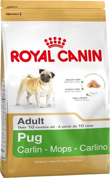 Royal Canin Breed Health Nutrition Pug Adult 1.5 kg, 3 kg, 500 g kjøp billig med rabatt