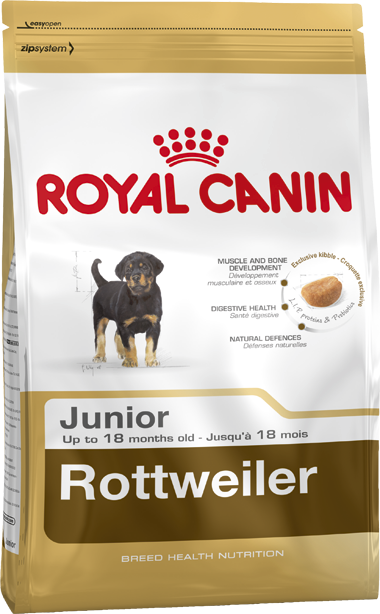 Royal Canin Breed Health Nutrition Rottweiler Junior 12 kg, 3 kg