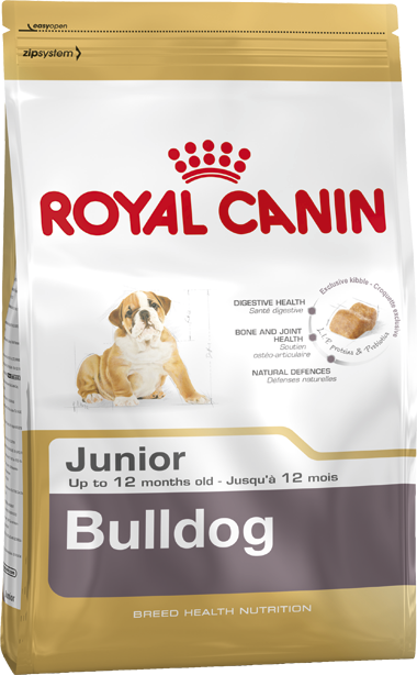Royal Canin Breed Health Nutrition Bulldog Junior 12 kg, 3 kg