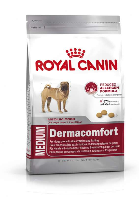 Royal Canin Size Health Nutrition Medium Dermacomfort 3 kg 3182550773829 erfaringer