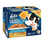 Felix Multipack Sensations Crunchy Crumbles with Fish Selection 10x100 g