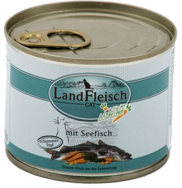 Landfleisch Cat Gourmet Pot Sea fish with fresh Vegetables in Can 195 g