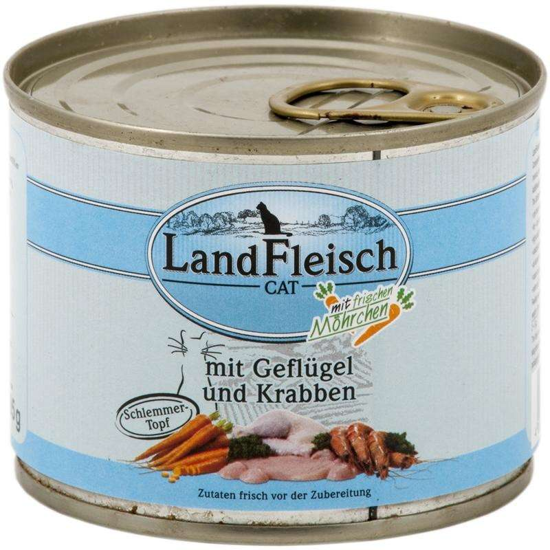 Landfleisch Cat Gourmet Pot Poultry & Crab meat with fresh vegetables in Can EAN: 4003537002277 reviews