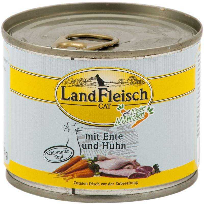 Landfleisch Cat Gourmet Pot Duck & Chicken with fresh Vegetables Can 195 g, 400 g buy online