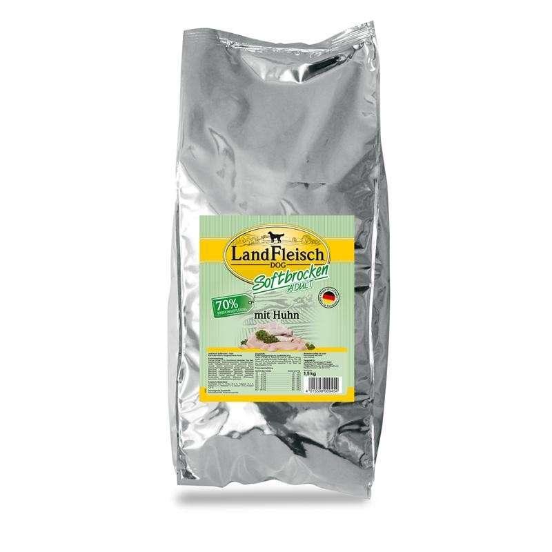 Landfleisch Dog Zachte stukjes met kip 1.5 kg, 5 kg, 3x5 kg, 200 g