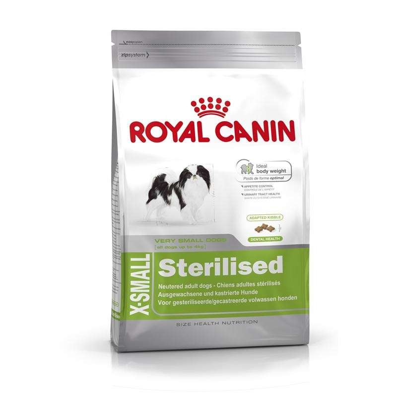 Royal Canin Size Health Nutrition X-Small Sterilised 1.5 kg, 500 g kjøp billig med rabatt