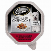Cesar Recommendation of the Chef with Grilled Beef, Natural Rice & Vegetables 150 g