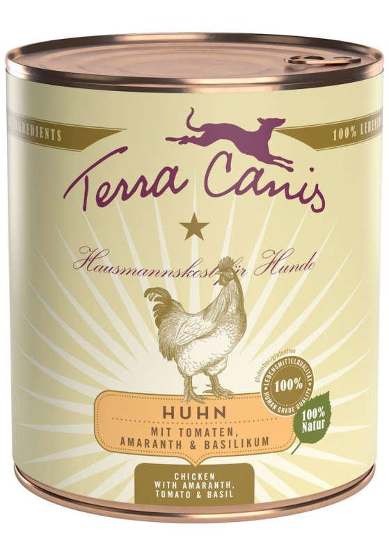 Terra Canis Menu Classic, Pollo con Tomate, Amaranto y Albahaca 800 g