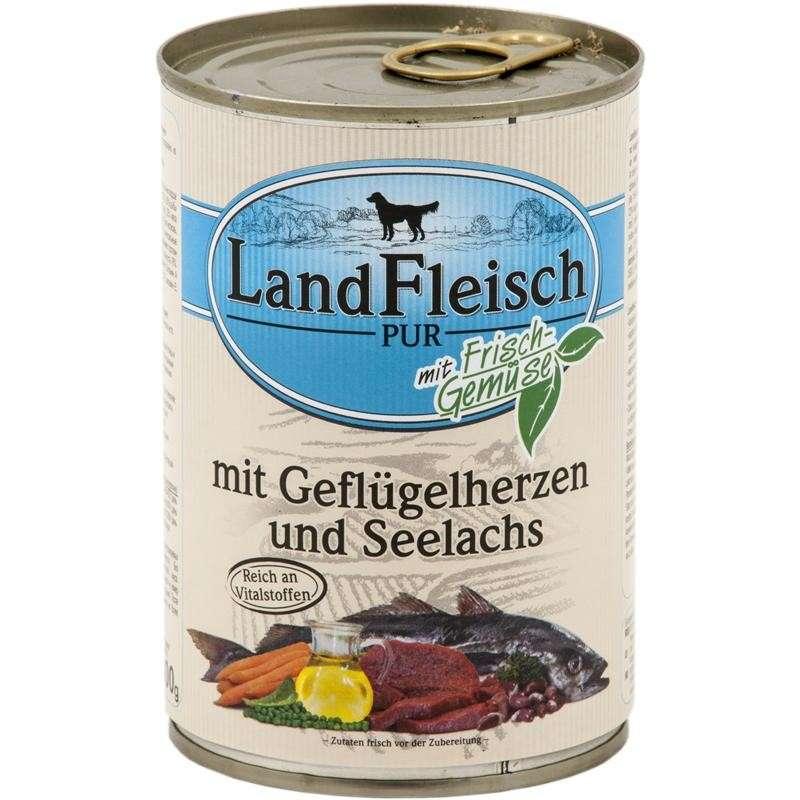 Pur Gevogelte Harten & Seelachs met verse groenten Blikje 400 g