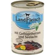 Landfleisch PUR Geflügelherzen & Seelachs mit Frischgemüse Dose 400 g