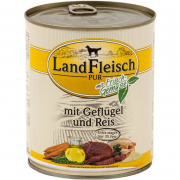 Landfleisch PURE Volaille & Riz extra maigre avec légumes frais Boîte 800 g