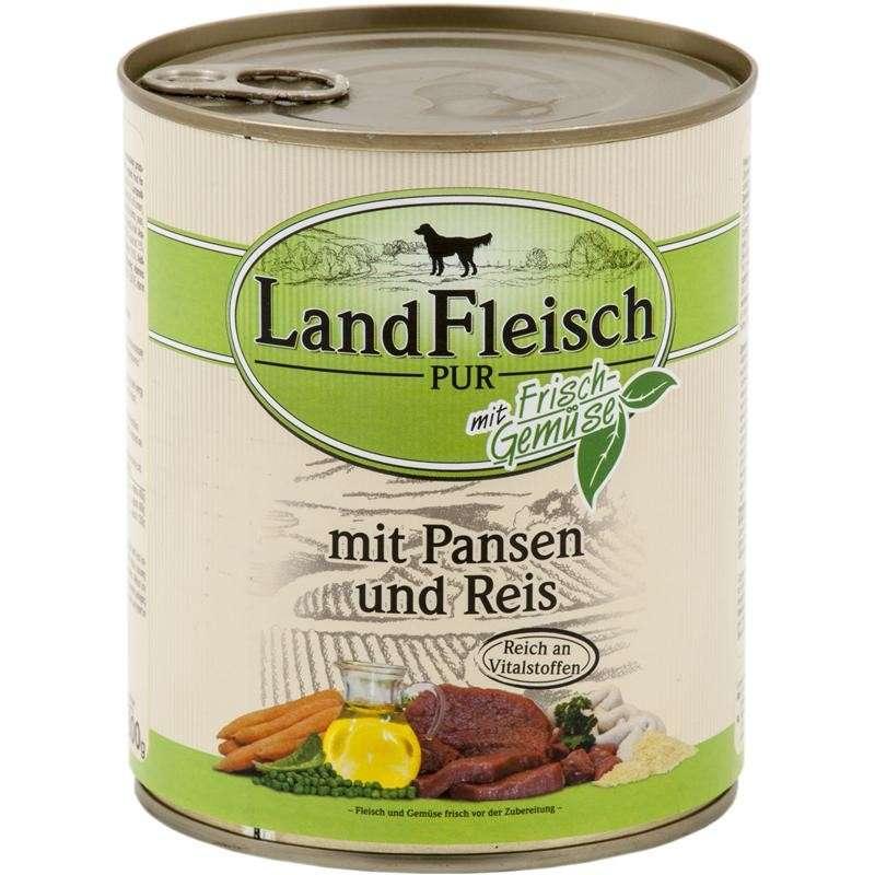 Landfleisch Pur Rumen & Rice with fresh vegetables Can 800 g