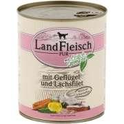 Landfleisch PURE Volaille & Filet de Saumon avec Légumes Boîte 800 g