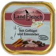 Landfleisch Cat Gourmet Pot Poultry & Duck liver with fresh Vegetables Tray 100 g
