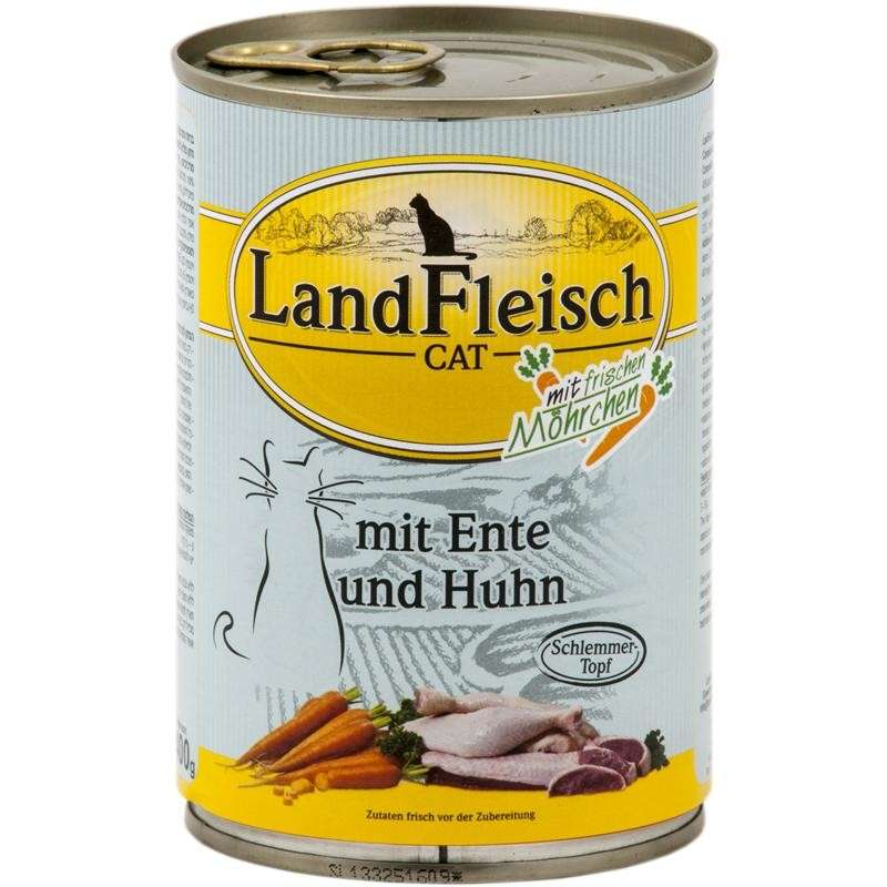 Landfleisch Cat Gourmet Pot Duck & Chicken with fresh Vegetables Can EAN: 4003537002277 reviews
