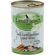 Landfleisch Cat Gourmet Pot Poultry hearts & Game with fresh vegetables in Can 400 g