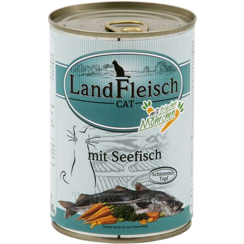 Landfleisch Cat Gourmet Pot Sea fish with fresh Vegetables in Can 400 g