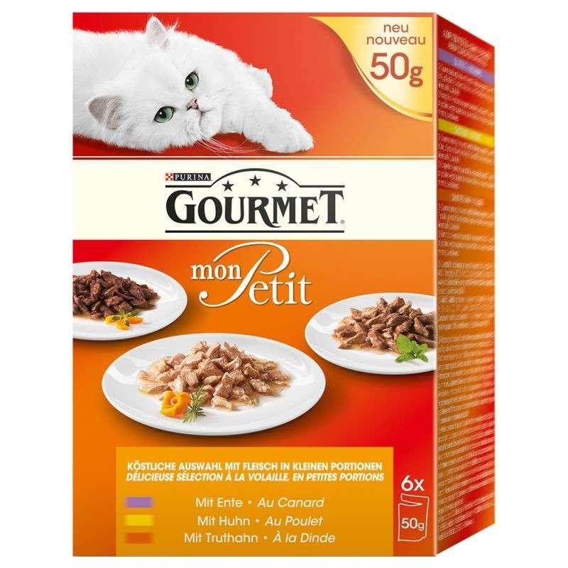 Purina Gourmet Mon Petit Fjærkre 6x50 g kjøp billig med rabatt