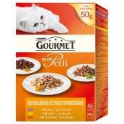 Purina Gourmet Mon Petit Fjerkræ (med kylling, and, kalkun) 6x50 g