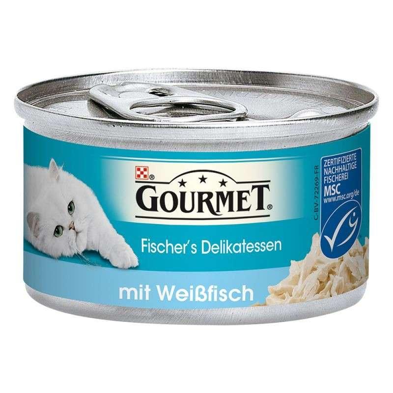 Purina Gourmet Fischer´s Delikatesser med hvidhval 12x85 g 7613034977816 anmeldelser