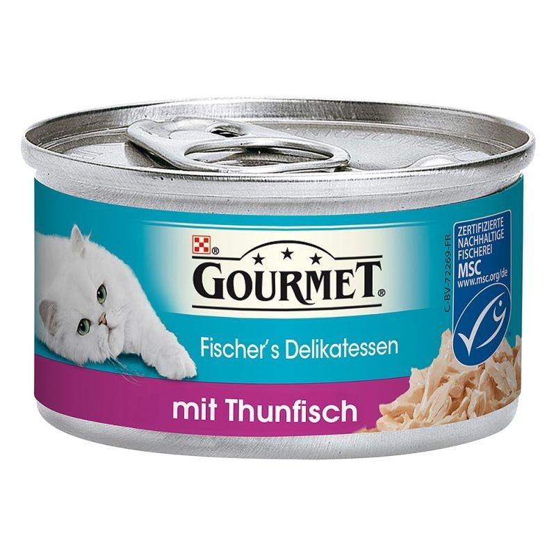 Purina Gourmet Fischer´s Delikatesser med Tun 85 g